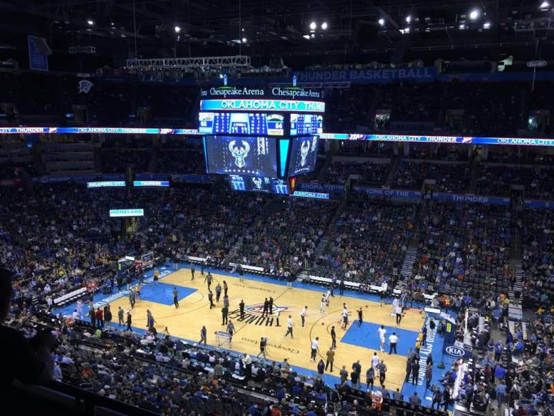 Seating view for Chesapeake Energy Arena Section 322