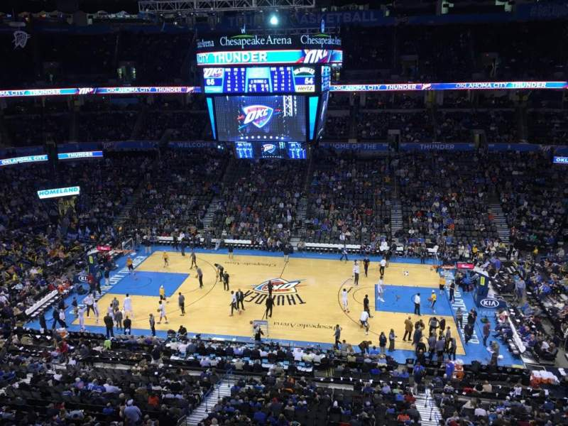 Seating view for Chesapeake Energy Arena Section 323