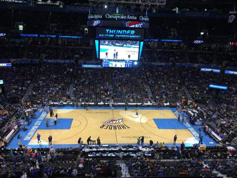 Seating view for Chesapeake Energy Arena Section 324