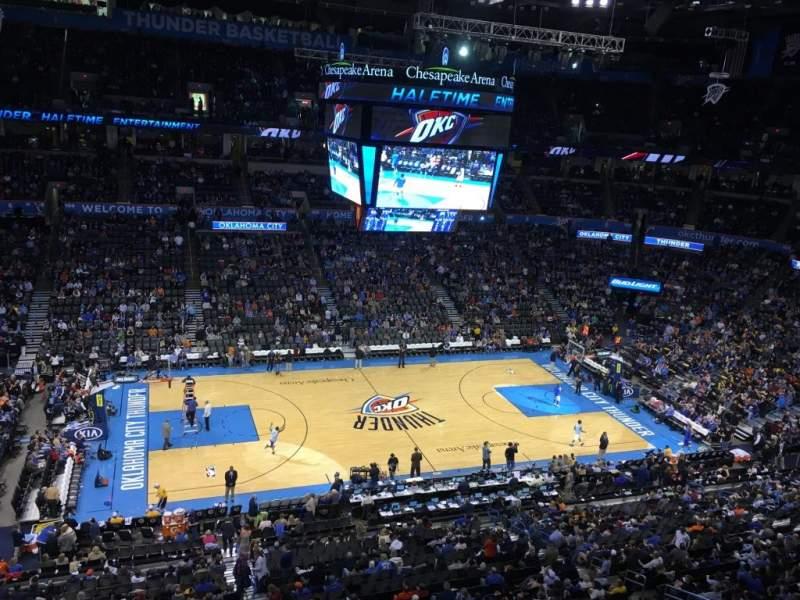 Seating view for Chesapeake Energy Arena Section 325