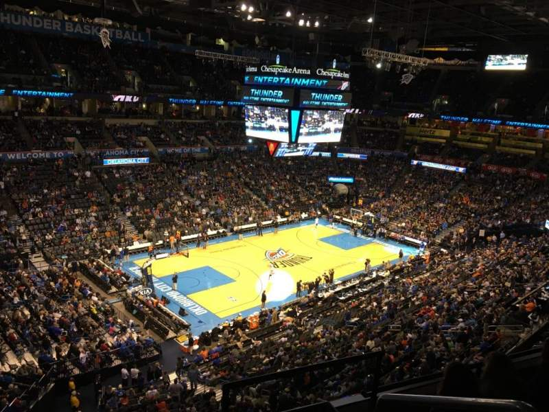 Seating view for Chesapeake Energy Arena Section 327