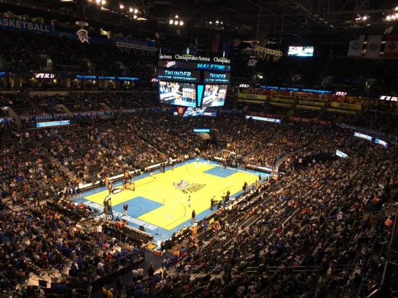 Seating view for Chesapeake Energy Arena Section 328