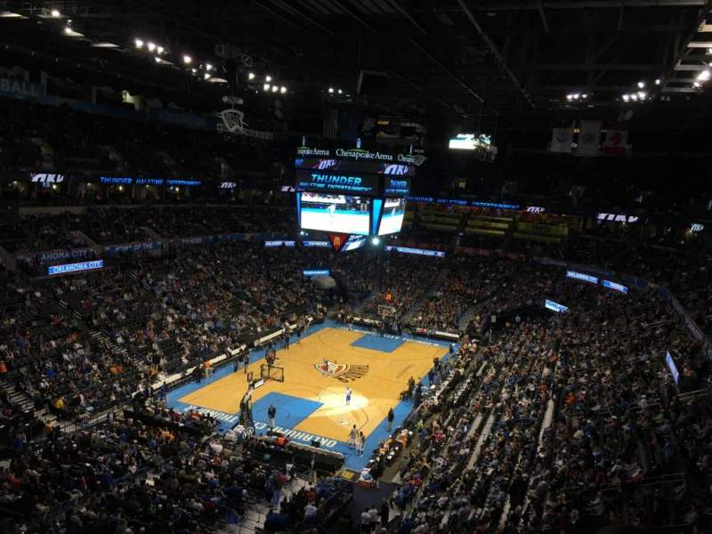 Seating view for Chesapeake Energy Arena Section 329