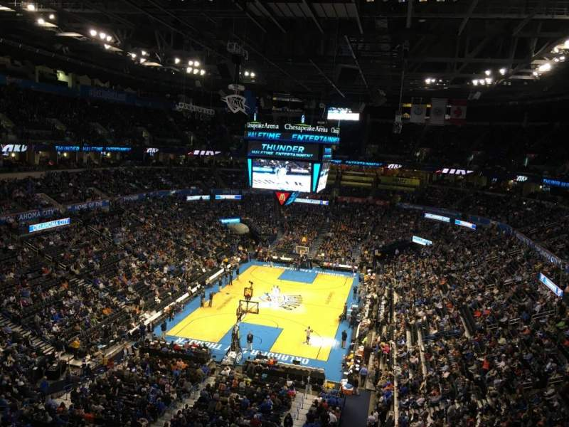 Seating view for Chesapeake energy arena Section 330