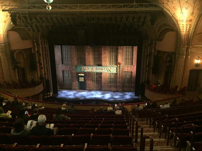 Seating view for Al Hirschfeld Theatre Section Mezzanine Center Row Q Seat 101