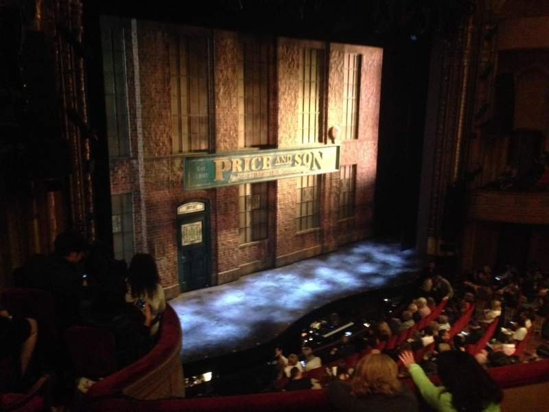 Seating view for Al Hirschfeld Theatre Section Mezzanine Left Row D Seat 25