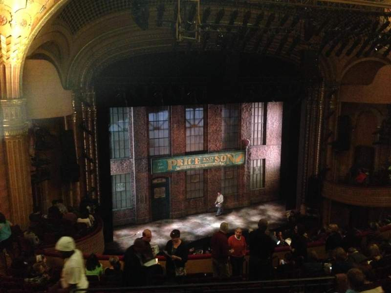 Seating view for Al Hirschfeld Theatre Section Mezzanine Left Row M Seat 17