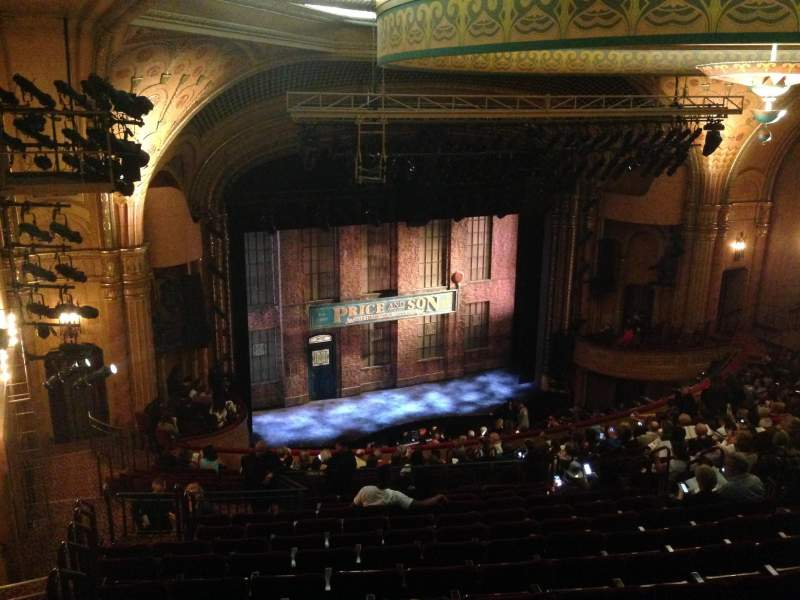 Seating view for Al Hirschfeld Theatre Section Mezzanine Left Row T Seat 17