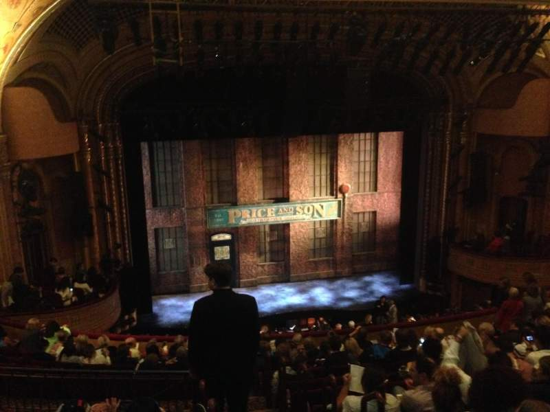 Seating view for Al Hirschfeld Theatre Section Mezzanine Left Row N Seat 1