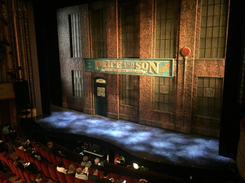 Seating view for Al Hirschfeld Theatre Section Mezzanine Row A Seat 12