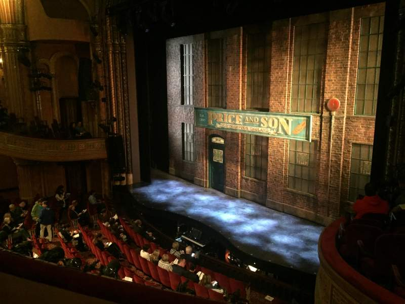 Seating view for Al Hirschfeld Theatre Section Mezzanine Right Row C Seat 26
