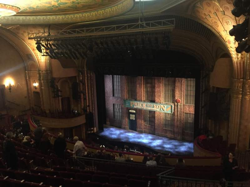 Seating view for Al Hirschfeld Theatre Section Mezzanine Right Row P Seat 26