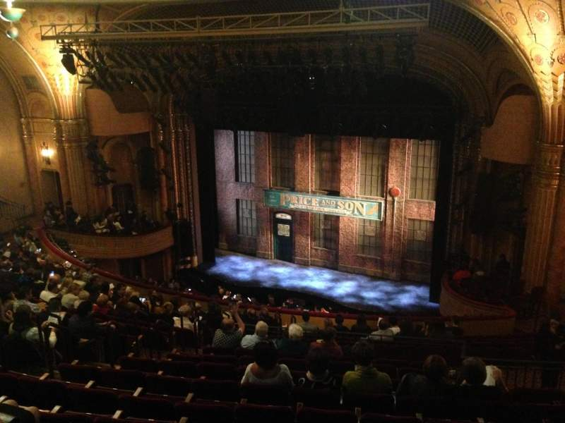 Seating view for Al Hirschfeld Theatre Section Mezzanine Right Row Q Seat 20