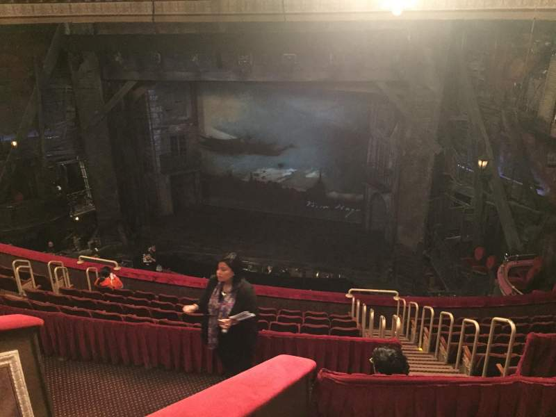 Seating view for Imperial Theatre Section First Balcony, Center Row F