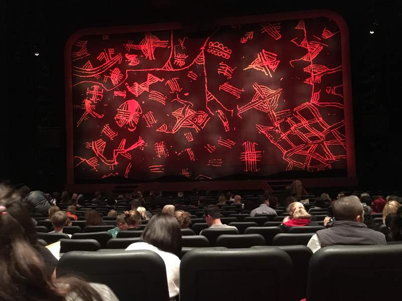 Seating view for Minskoff Theatre Section Orchestra Row Q Seat 119