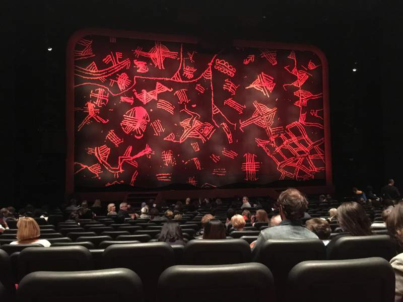 Seating view for Minskoff Theatre Section Orchestra Row R Seat 106