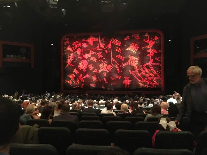 Seating view for Minskoff Theatre Section Orchestra Row Y Seat 123