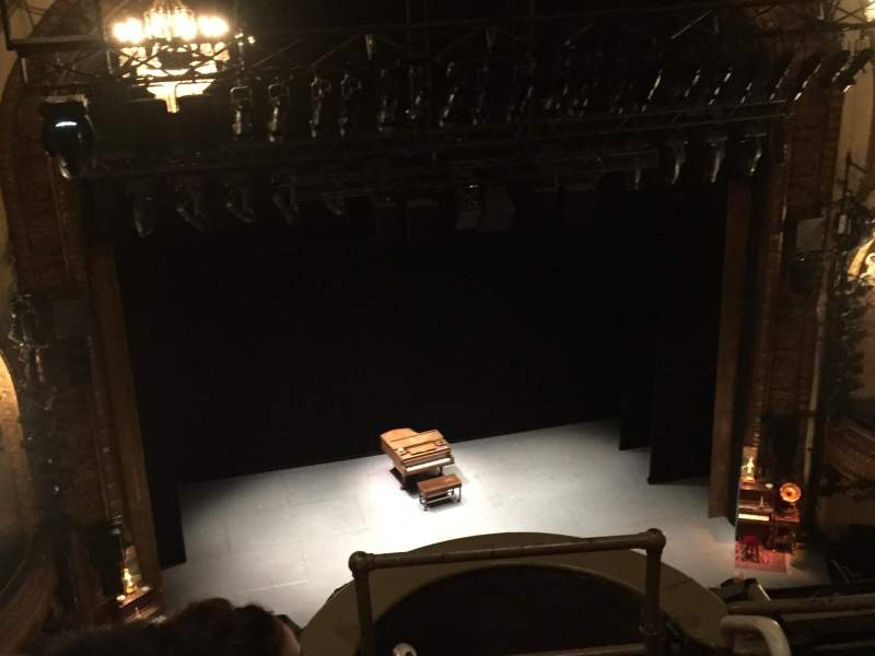 Seating view for Palace Theatre (Broadway) Section Balcony Left Row B