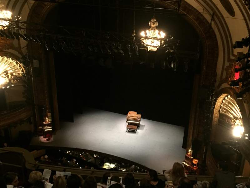 Seating view for Palace Theatre (Broadway) Section Balcony Right Row H