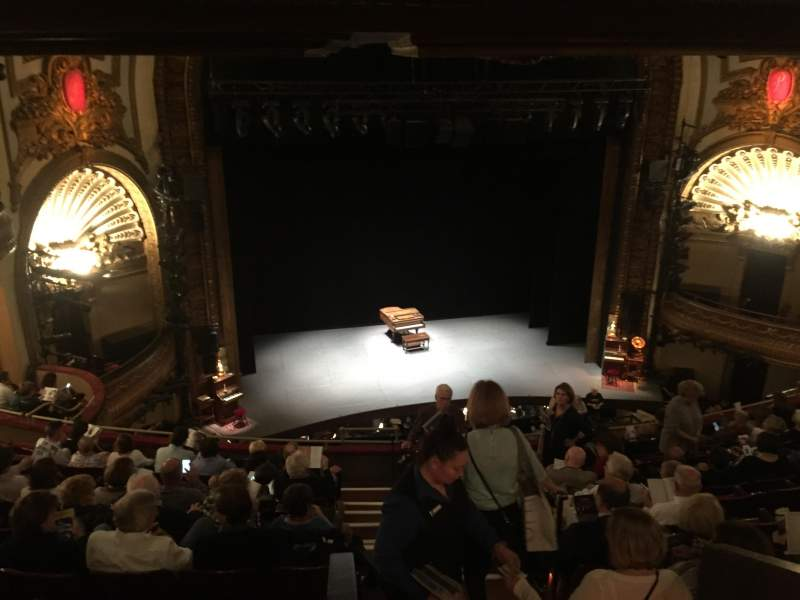 Seating view for Palace Theatre (Broadway) Section Mezzanine Row J Seat 111