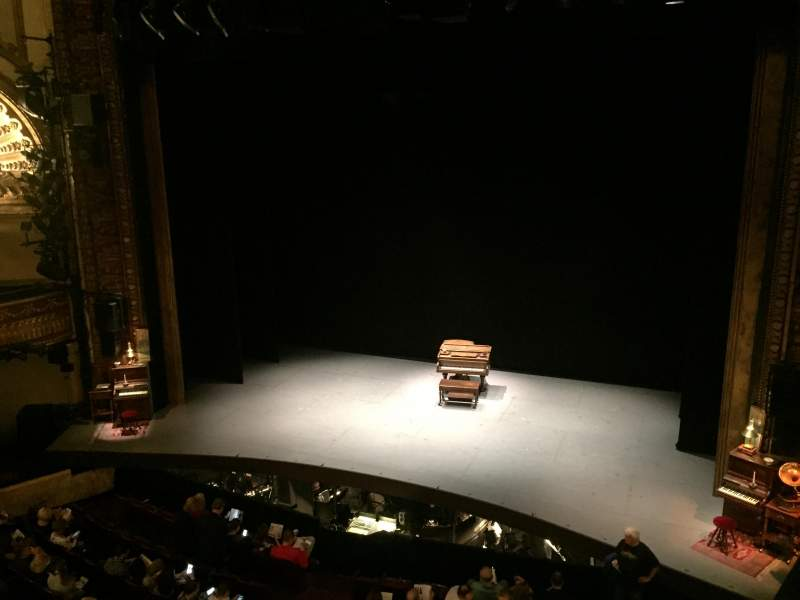 Seating view for Palace Theatre (Broadway) Section Mezzanine Right Row AA