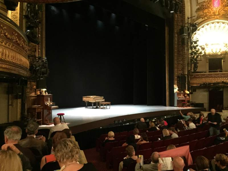 Seating view for Palace Theatre (Broadway) Section Orchestra Left Row H