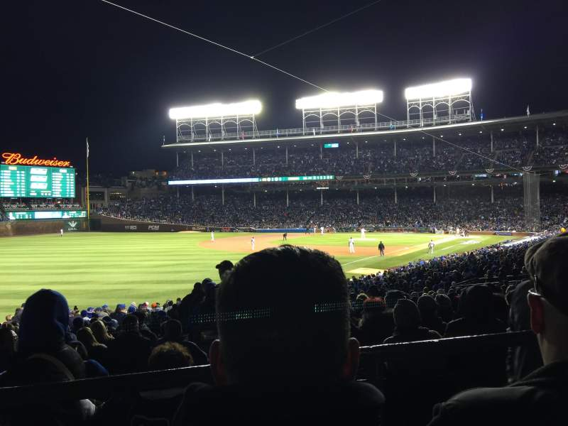 Seating view for Wrigley Field Section 204 Row 2 Seat 110