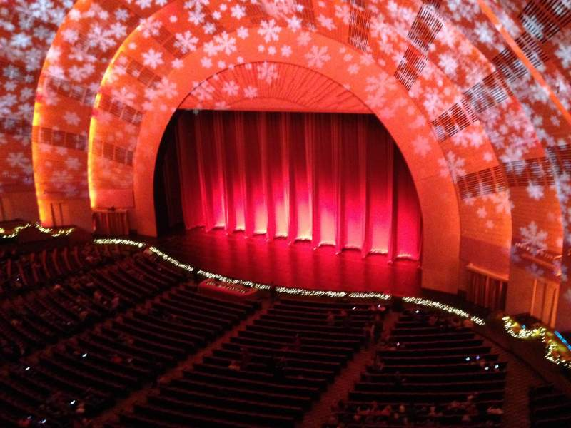 Seating view for radio city music hall Section 3rd Mezzanine 1 Row BB Seat 107