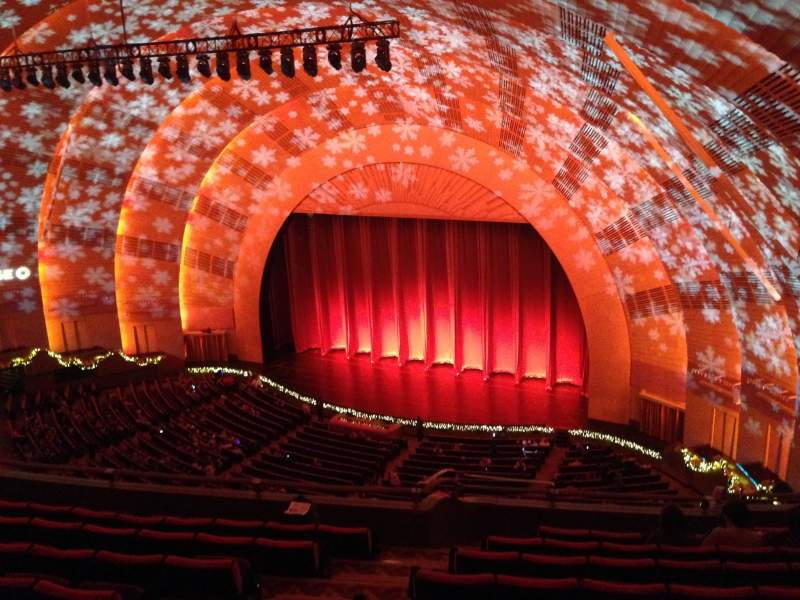 Seating view for radio city music hall Section 3rd Mezzanine 1 Row h Seat 108