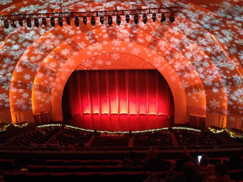 Seating view for radio city music hall Section 3rd Mezzanine 3 Row h Seat 307