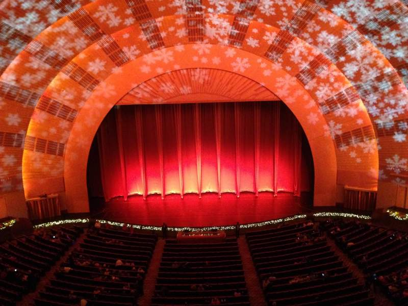 Seating view for radio city music hall Section 3rd Mezzanine 4 Row a Seat 406