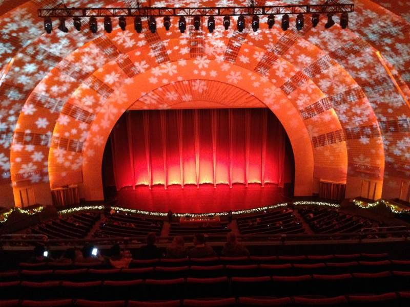 Seating view for radio city music hall Section 3rd Mezzanine 4 Row h Seat 407