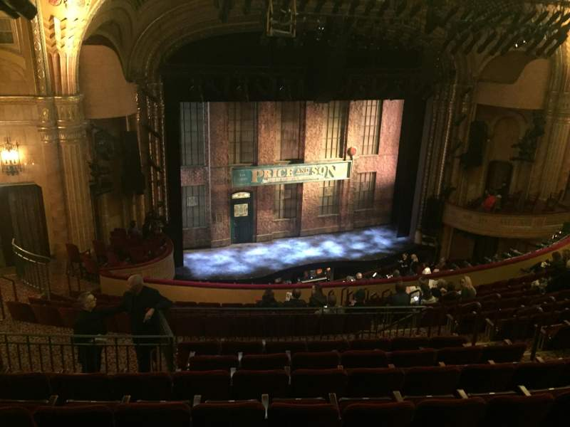 Seating view for Al Hirschfeld Theatre Section Mezzanine Left Row O Seat 19