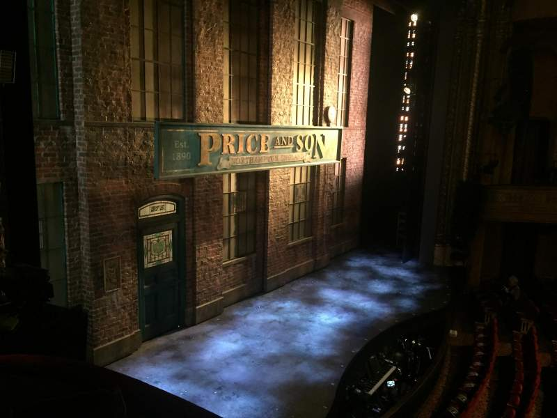 Seating view for Al Hirschfeld Theatre Section Mezzanine Left Row Box D