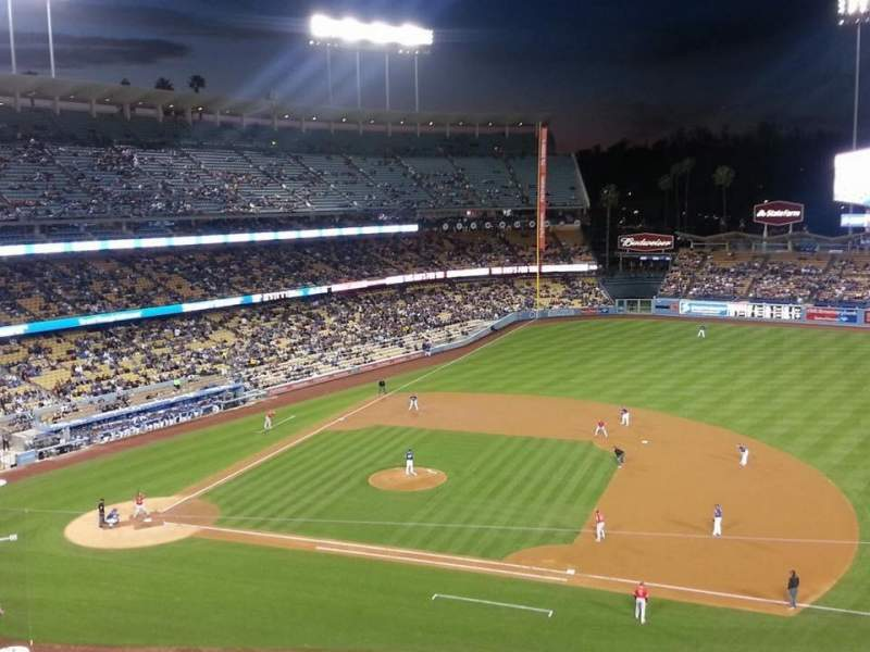 Seating view for Dodger Stadium Section 20RS Row D Seat 5