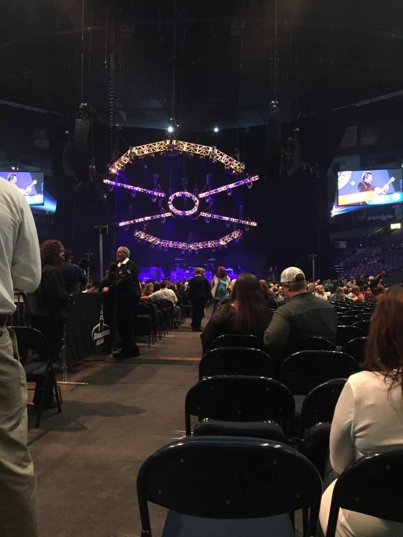 Seating view for Bridgestone Arena Section 6 Row 19 Seat 12
