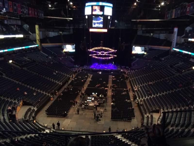 Seating view for Bridgestone Arena Section 301 Row C Seat 3