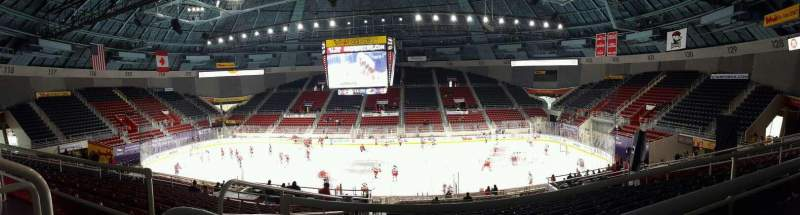 Seating view for Bojangles' Coliseum Section 124 Row AA Seat 12