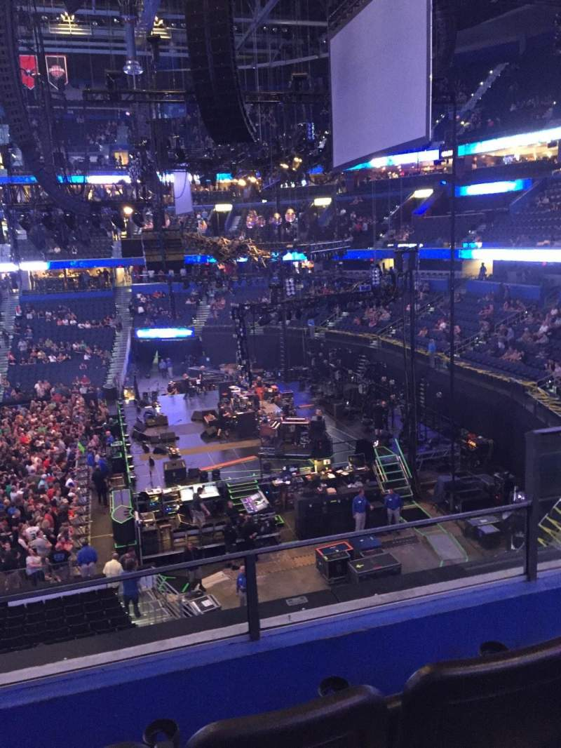 Seating view for Amalie Arena Section 229 Row C Seat 5