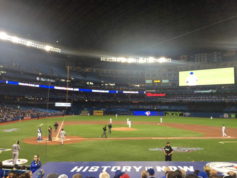 Seating view for Rogers Centre Section 119r Row 16 Seat 7