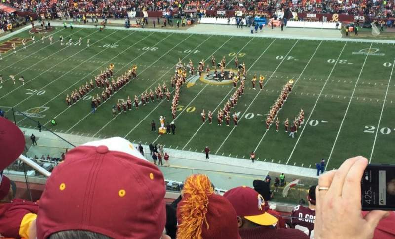 Seating view for FedEx Field Section 452 Row 8 Seat 14