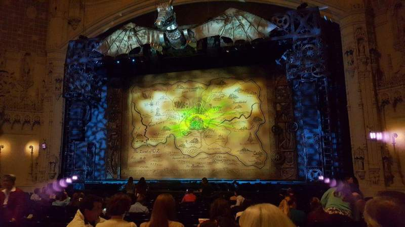 Seating view for Orpheum Theatre (San Francisco) Section orchestra Row T Seat 120