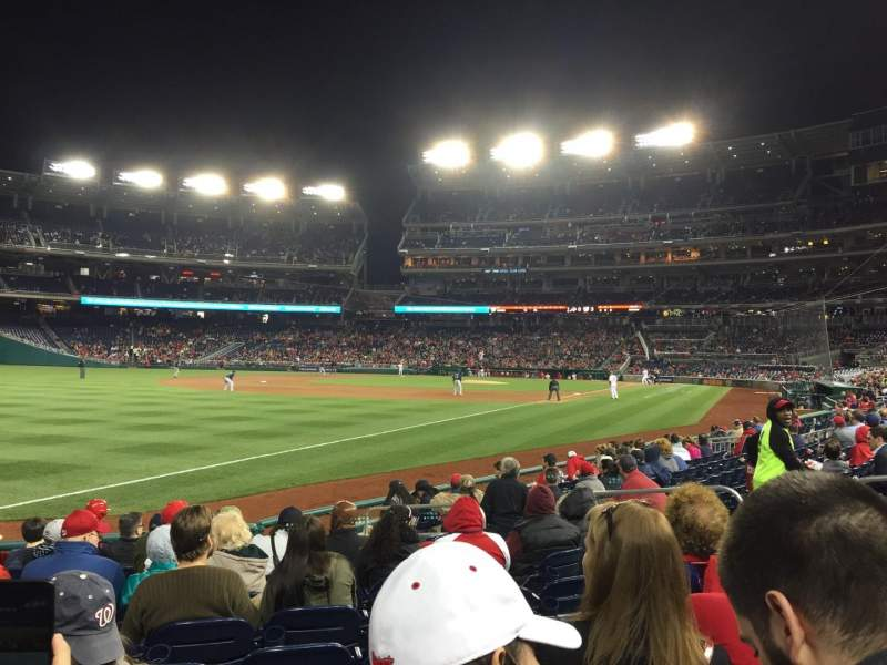 Seating view for Nationals Park Section 110 Row L Seat 12