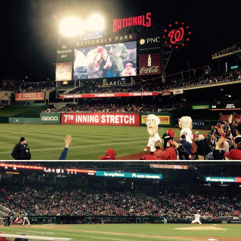 Seating view for Nationals Park Section 132 Row E Seat 12