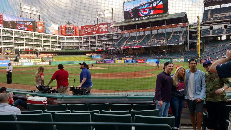 Seating view for Globe Life Park in Arlington Section 23 Row 3 Seat 10