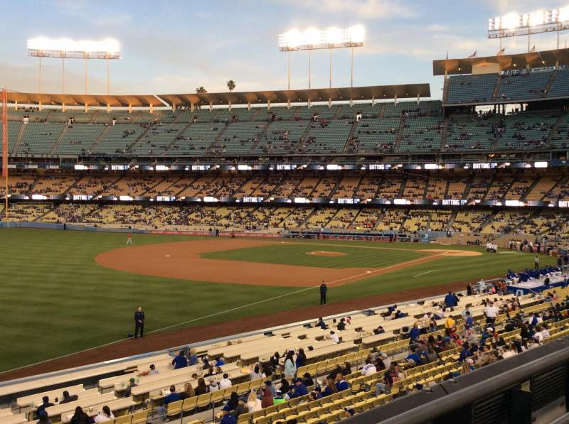 Seating view for Dodger Stadium Section 157LG Row F Seat 7