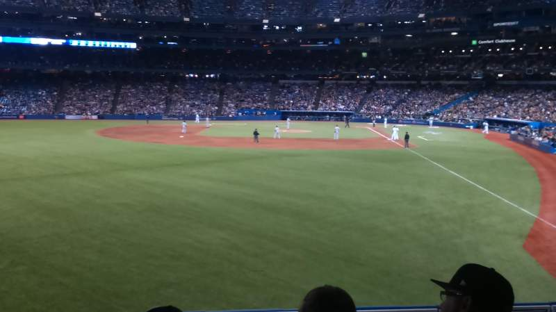 Seating view for Rogers Centre Section 136R Row 3 Seat 10