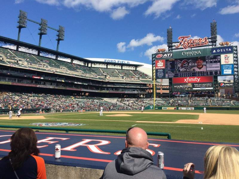 Seating view for Comerica Park Section 121 Row 9 Seat 3