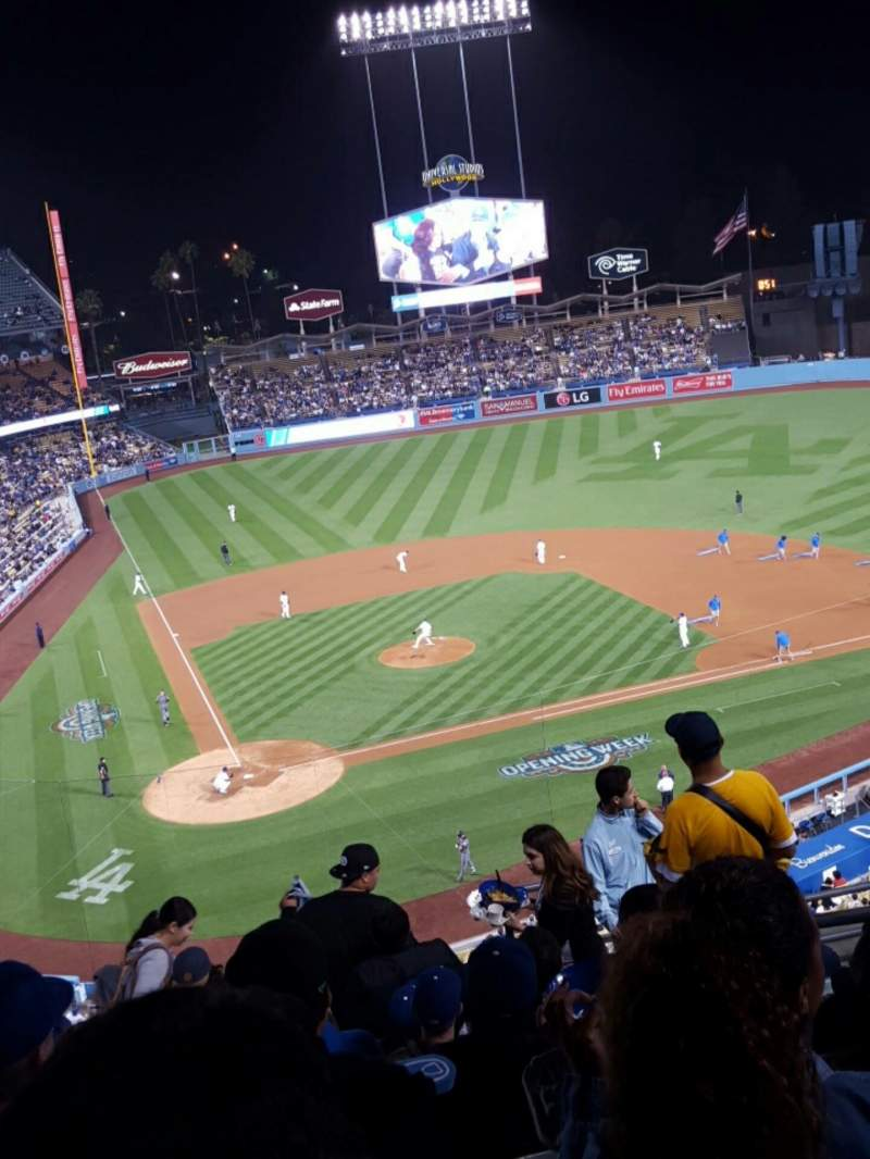 Seating view for Dodger Stadium Section 6RS Row J Seat 19