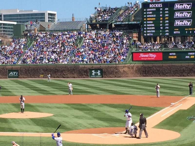 Seating view for Wrigley Field Section 218 Row 3 Seat 5